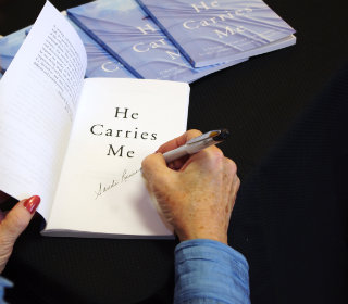author signing her book