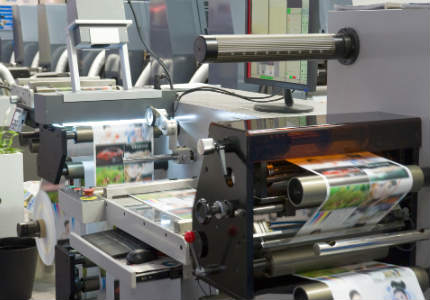 printing machines in process
